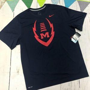 NWT!! Nike Ole Miss Men's  Dri Fit T-shirt size XL